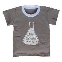 Camiseta Cientista | Cinza...