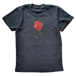 Camiseta Rosa em Punho |...