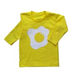 Camiseta Ovo| Amarelo Manga...