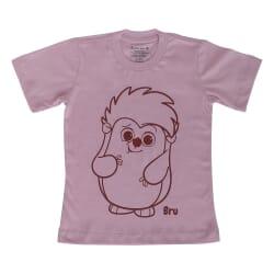 Camiseta Bru | Rosa Manga...